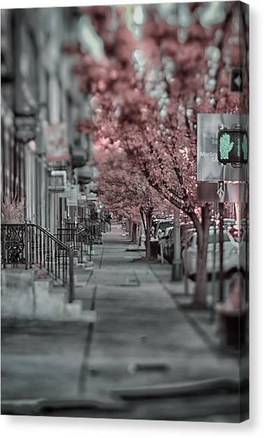 Empty Sidewalk Canvas Print