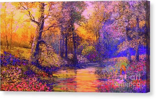 Spiritual Canvas Print - Enchanted Prayer by Jane Small