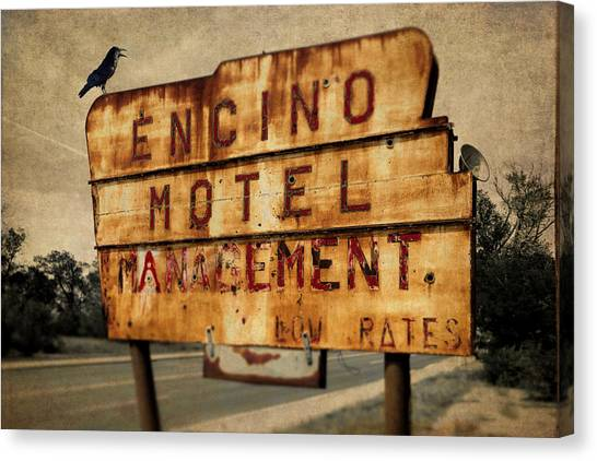 Canvas Print featuring the photograph Encino Hotel by Lou Novick