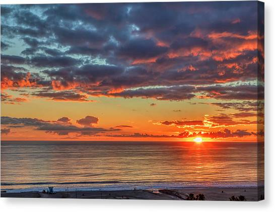 End Of Day Light Show Canvas Print