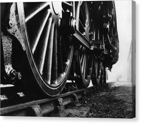 Engine Wheels Canvas Print by Fox Photos