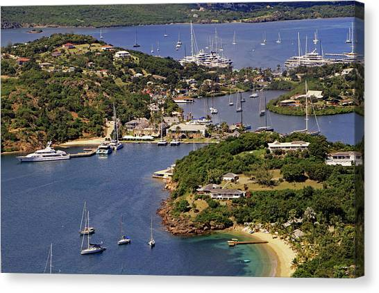 Canvas Print featuring the photograph English Harbour by Tony Murtagh