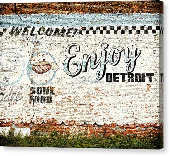Enjoy Detroit Canvas Print by Humboldt Street