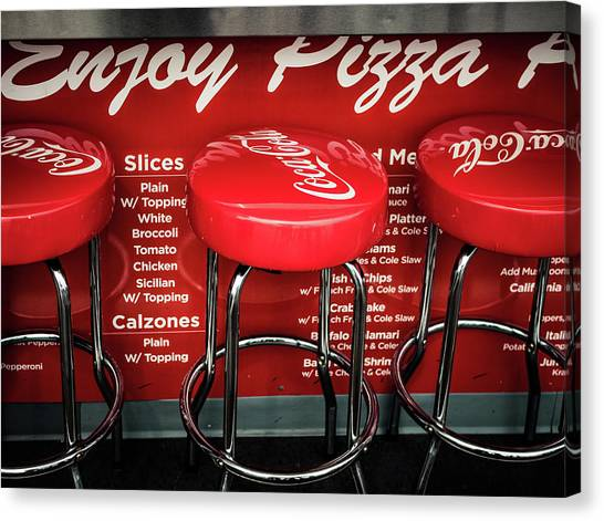 Canvas Print featuring the photograph Enjoy Pizza And A Coke by Steve Stanger