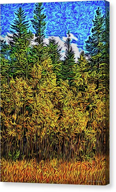 Canvas Print featuring the digital art Enter The Woods by Joel Bruce Wallach