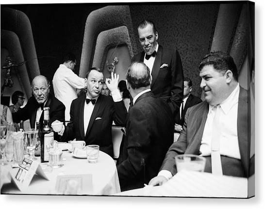 Entertainer Frank Sinatra Giving The Ok Canvas Print