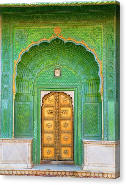 Entrance To Palace Canvas Print