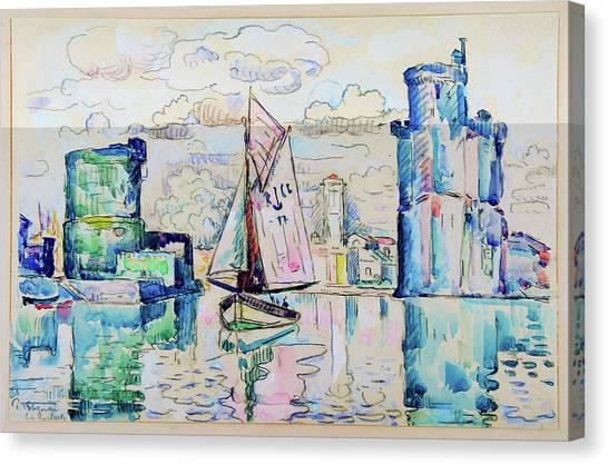 Signac Canvas Print - Entrance To The Harbor Of La Rochelle - Digital Remastered Edition by Paul Signac
