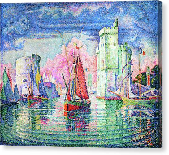 Signac Canvas Print - Entrance To The Port Of La Rochelle - Digital Remastered Edition by Paul Signac
