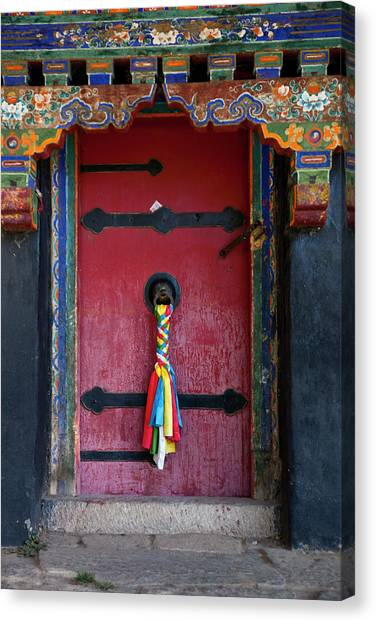 Entrance To The Tibetan Monastery Canvas Print by Hanhanpeggy