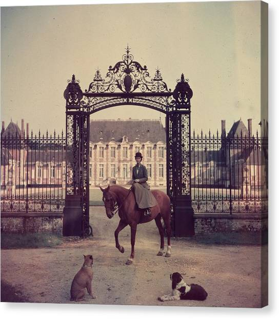 Equestrian Entrance Canvas Print