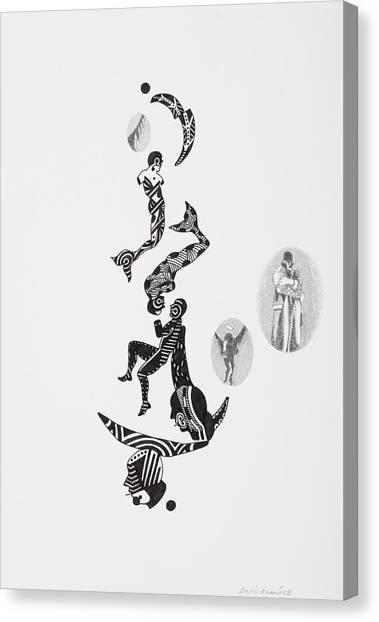 Equilibrium Series 2, 2005 Pencil And Canvas Print