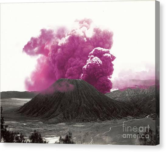 Krakatoa Canvas Print - Eruption by Mindy Sommers