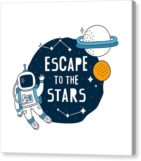 Escape To The Stars - Baby Room Nursery Art Poster Print Canvas Print
