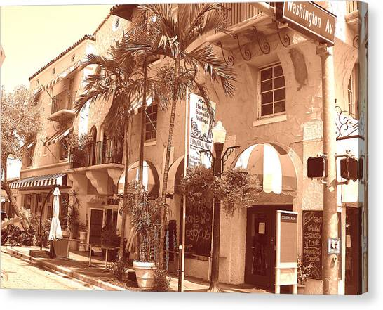 Espanola Way In Miami South Beach Canvas Print
