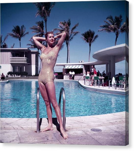 Esther Williams In Florida Canvas Print