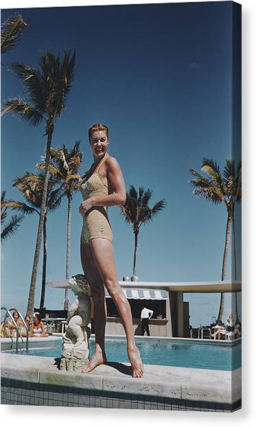 Esther Williams Canvas Print by Slim Aarons