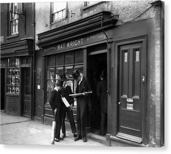 Clothing Store Canvas Print - Eton Cricket by Fox Photos