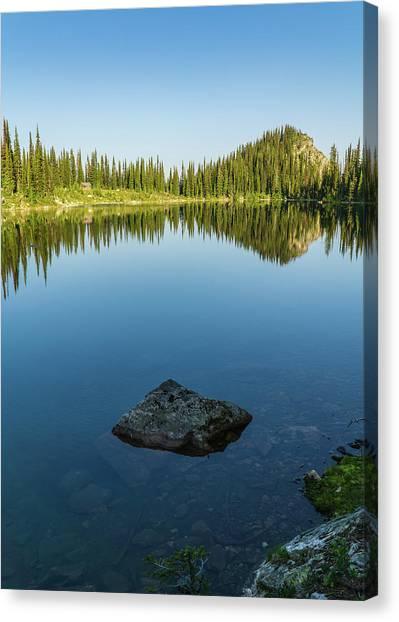 Eva Lake Mirror Canvas Print
