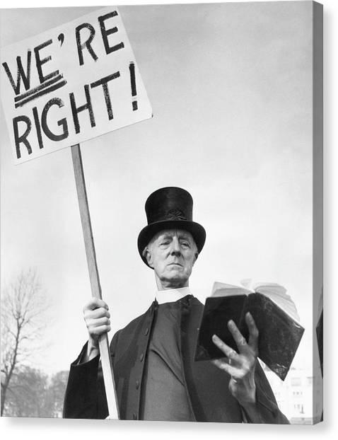 Placard Canvas Print - Evangelist by John Chillingworth