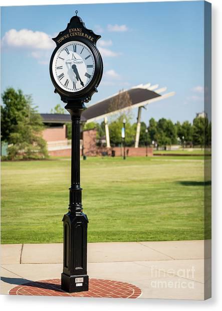 Evans Towne Center Park Clock - Columbia County Ga Canvas Print