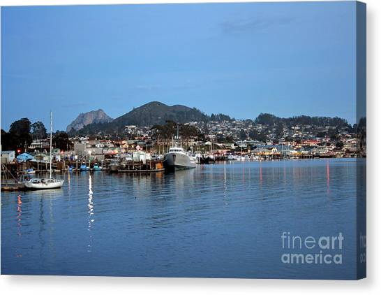 Evening In Morro Bay Canvas Print