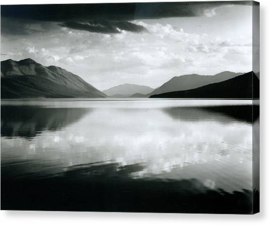 Evening, Mcdonald Lake, Glacier Canvas Print