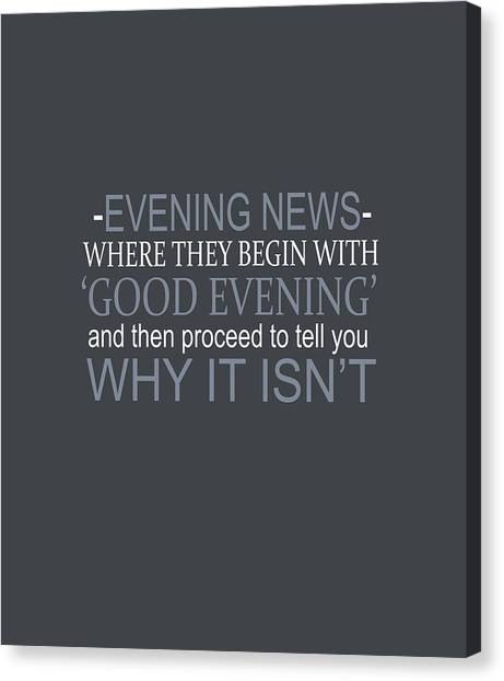 Evening News Canvas Print