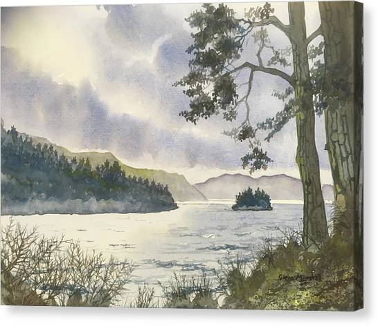 Evening On Derwentwater Canvas Print