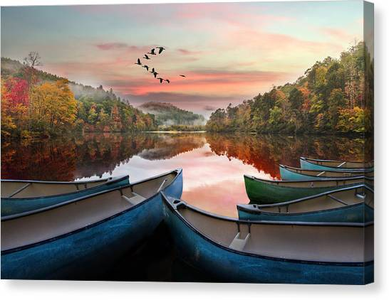 Canvas Print - Evening On The Lake by Debra and Dave Vanderlaan