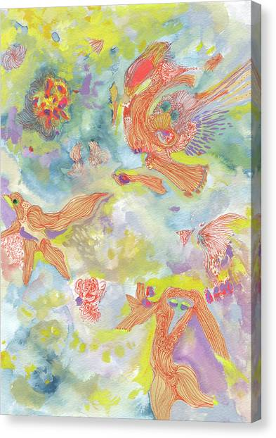 Everyone Dances In My Garden #ss19dw001  Canvas Print by Satomi Sugimoto