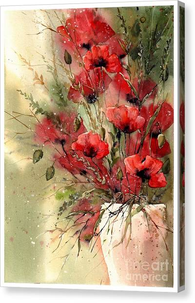 Jerusalem Canvas Print - Everything About Poppies I by Suzann Sines