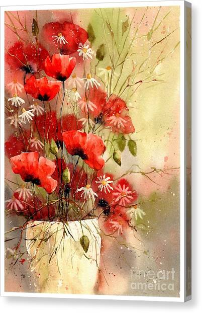 Jerusalem Canvas Print - Everything About Poppies IIi by Suzann Sines