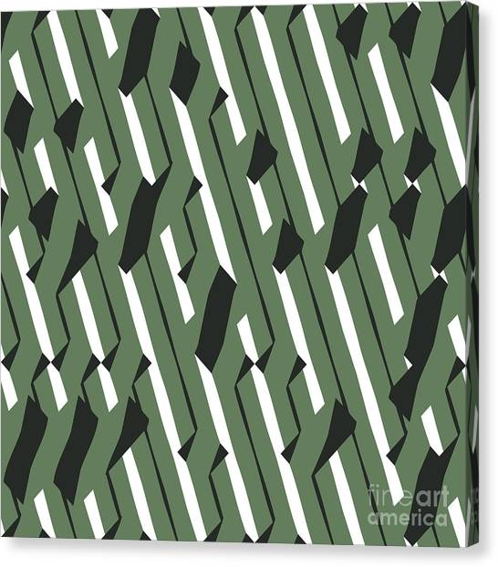 Change Canvas Print - Evolving Geometry - Vector Seamless by Vytenis Slajus