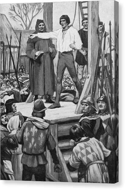 Execution Of Warbeck Canvas Print by Hulton Archive