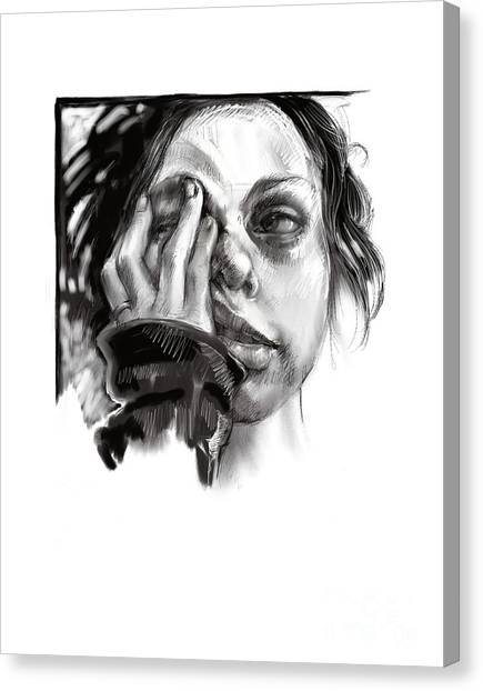 Exhaustion Canvas Print