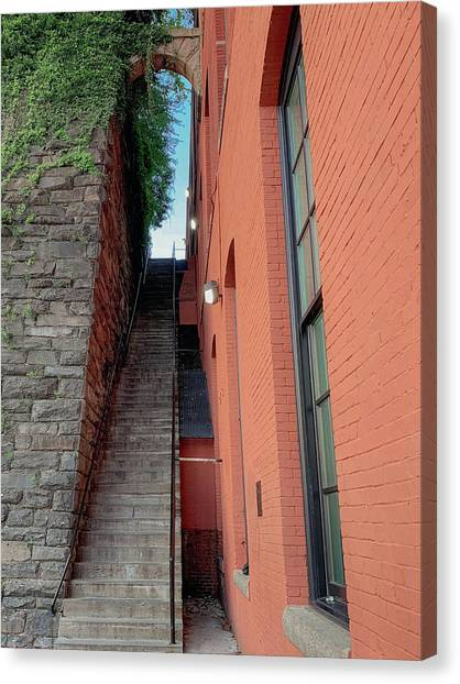 Exorcist Stairs Beauty Canvas Print