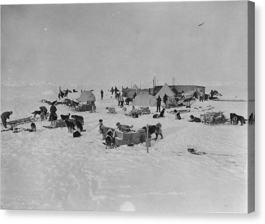 Expedition Camp Canvas Print by Hulton Archive