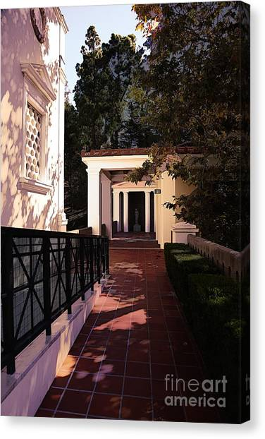 J Paul Getty Canvas Print - Exterior Amazing Getty Villa  by Chuck Kuhn