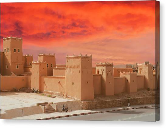 Exterior Buildings Of Kasbah Taourirt Canvas Print