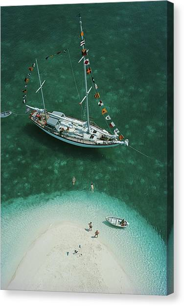 Exuma Holiday Canvas Print by Slim Aarons