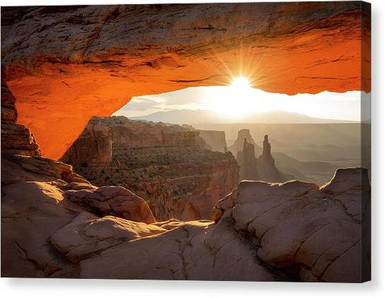 Canvas Print featuring the photograph Eye Of The Mesa by Ryan Wyckoff
