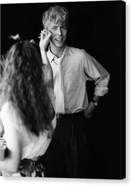 Eyes For Bowie Canvas Print by Keystone
