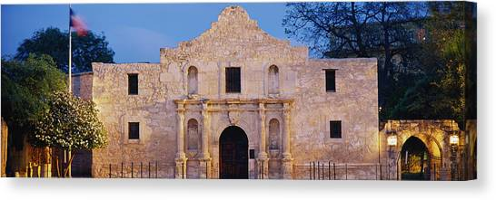 Chain Link Fence Canvas Print - Facade Of A Church, Alamo, San Antonio by Panoramic Images