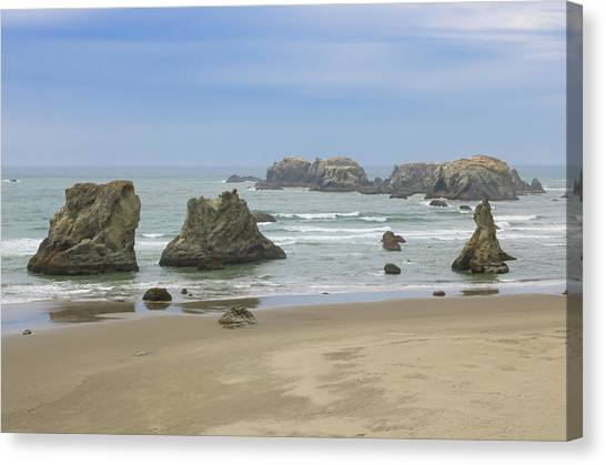 Canvas Print featuring the photograph Face Rock Trail, Bandon Beach, Oregon by Dawn Richards