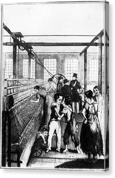 Factory Boys Canvas Print by Rischgitz