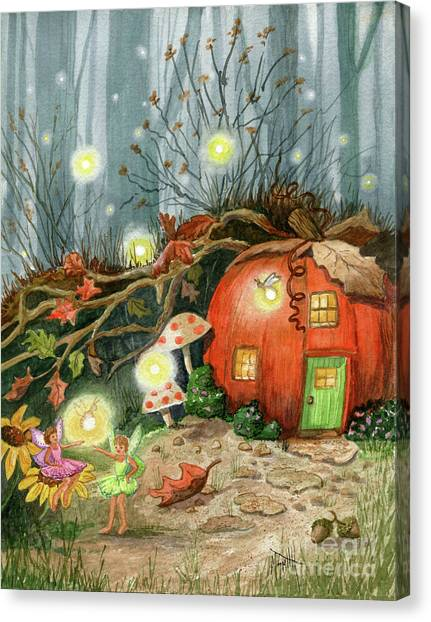 Canvas Print - Fairy And Firefly Fantasy by Marilyn Smith