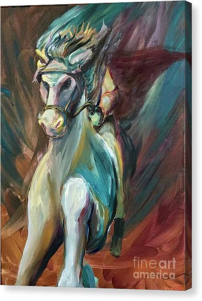 Canvas Print featuring the painting Faithful And True by Lisa DuBois