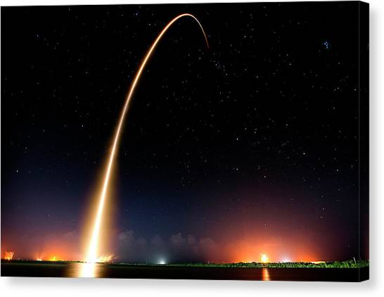 Falcon 9 Rocket Launch Outer Space Image Canvas Print