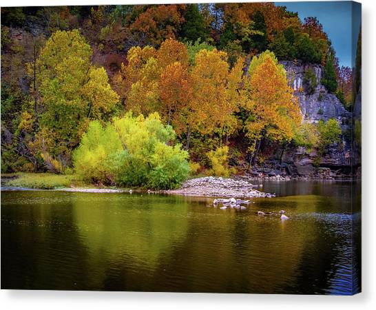 Fall Colors Of The Ozarks Canvas Print